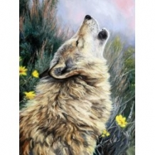 Diamond Painting Huilende Wolf