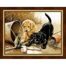 Diamond Painting Spelende Puppies