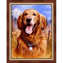 Diamond Painting Golden Retriever