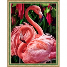 Diamond Painting Flamingo's