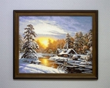 Diamond Painting Zonsopgang in de Winter